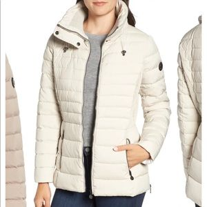 Bernardo Micro Touch Water Resistant Quilted Coat